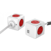 Allocacoc PowerCube Extended USB 1.5m fehér-piros