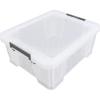 ALLSTORE Műanyag tárolódoboz, átlátszó, 24 liter,