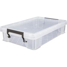 ALLSTORE Műanyag tárolódoboz, átlátszó, 5,5 liter, papírárú, csomagoló és tárolóeszköz
