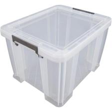ALLSTORE Műanyag tárolódoboz, átlátszó, A4 méretű mappák tárolására, 36 liter, ALLSTORE mappa