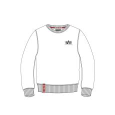 Alpha Indsutries Basic Sweater Small Logo - fehér