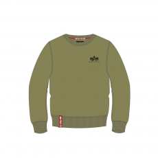Alpha Indsutries Basic Sweater Small Logo - olive