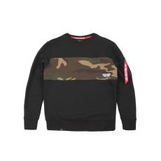 Alpha Indsutries Camo Bar Sweater - fekete