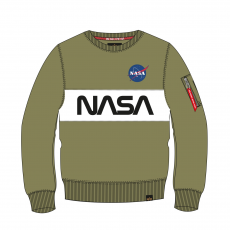 Alpha Indsutries NASA Inlay Sweater - olive