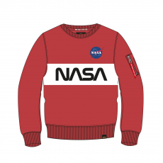 Alpha Indsutries NASA Inlay Sweater - speed red