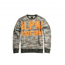 Alpha Industries All Over Sweater - wood camo