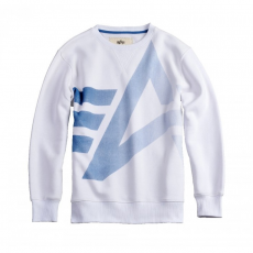 Alpha Industries Big Logo Crew Neck - fehér pulóver