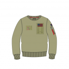 Alpha Industries Blood Chit Sweater - light olive