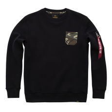 Alpha Industries Camo Pocket Sweater - fekete