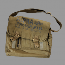 Alpha Industries Cargo Canvas Courier Bag - olive