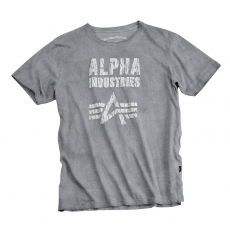 Alpha Industries Crack Print T - greyblack