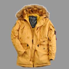 Alpha Industries Explorer női valódi szőrmével - mustár színű kabát