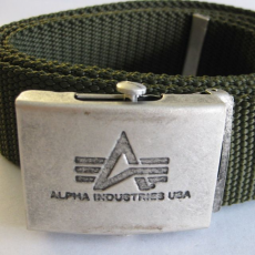 Alpha Industries Heavy Duty Belt 4 cm - replika szürke