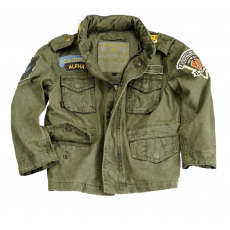 Alpha Industries Kids Air Field Skull Jacket - olive