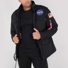 Alpha Industries M-65 Heritage NASA - fekete férfi kabát, dzseki