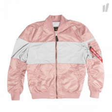 Alpha Industries MA-1 VF LW CB REFLECTIVE - silver pink