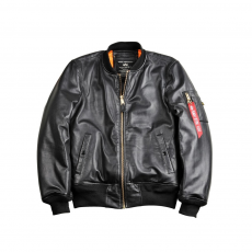 Alpha Industries MA-1 VF PM Leather marhabőr - fekete