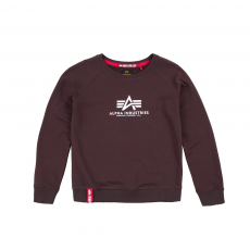 Alpha Industries New Basic Sweater deep maroon kereknyakú pulóver
