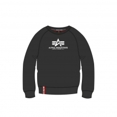 Alpha Industries New Basic Sweater fekete kereknyakú pulóver