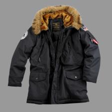 Alpha Industries Polar Jacket Down - fekete férfi kabát, dzseki
