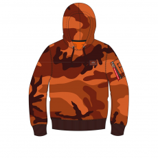 Alpha Industries X-Fit Hoody - orange camo