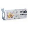 Alpha Olala Pure White kistekercses toalettpapír 3 rétegű fehér 10 tekercses, 8 csomag/zsák