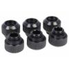 Alphacool Eiszapfen 12mm HardTube szorítógyűrűs csatlakozó G1/4 - Deep Black Sixpack /17375/