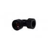 AlphaCool HT 13mm HardTube szerelvény 90 ° L-csatlakozó plexi sárgaréz csövek - recézett - Matt Black