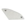 Alu profil eloxált (Reto) 30°-os végzáró, jobb oldali, ezüst