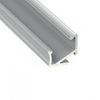 Alu profil eloxált (Type-H) LED szalaghoz, opál bura, PMMA