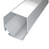 Aluminium profil eloxált (ALP-016S) LED szalaghoz, opál