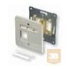 AMP DIN szimpla előlap - egyenes, 80x80, SL hellyel, fehér vagy bézs (2-966223-1)