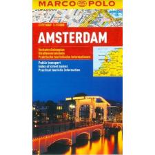 Amszterdam vízhatlan várostérkép tömegközlekedéssel - Marco Polo térkép