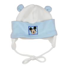 Andrea Kft. Disney Mickey fülvédős, megkötős baba sapka