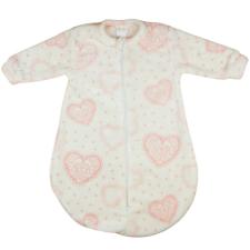 Andrea Kft. Rózsaszín szíves hosszú ujjú lányka wellsoft hálózsák 2,5 TOG gyerek hálóing, pizsama
