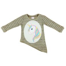 Andrea Kft. Unikornis lányka kötött pulóver