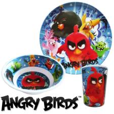 Angry Birds étkészlet, melamin szett tányér és evőeszköz