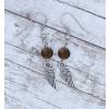 Angyali segítség fülbevaló - tigrisszem