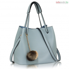Anna Grace AG00190 - Kék Női bájos pom-pom táska