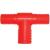 ANR T vízelosztó 1/2 -2 x 1/2 piros (10603)