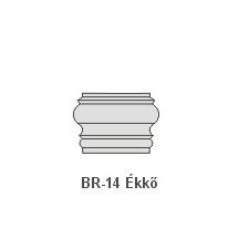 Anro BR-14 Ékkő, pattintós középkonzol - natúr dekoráció
