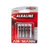 Ansmann LR03 AAA RED - 4db  - alkáli elem 1,5V