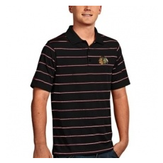 Antigua Chicago Blackhawks pólóing black Deluxe Polo - XL