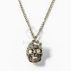 Antikolt koponya medálos nyaklánc kövekkel jwr-1161