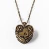 Antikolt nyaklánc kinyitható szív ládika medállal jwr-1090