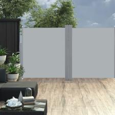 Antracitszürke behúzható dupla teraszi napellenző 170 x 600 cm kerti dekoráció