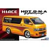 AOSHIMA 1/24 Toyota Hotcompany Hiace 200 2010 autó modell