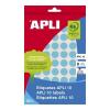 APLI 1008 etikett/csomag kék színű kézzel írható 10 mm kör etikett