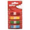 APLI 12x45 mm műanyag 4 színű jelölőcímke (4x35 lap)