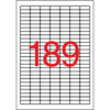 APLI 25,4x10 mm, eltávolítható, kerekített sarkú univerzális Etikett (25 lap)